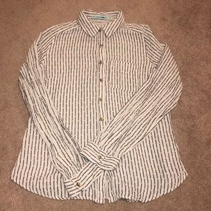 MAURICES PIN STRIPED BUTTON UP